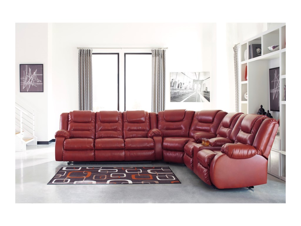 Signature Design by Ashley VacherieReclining Sectional Sofa