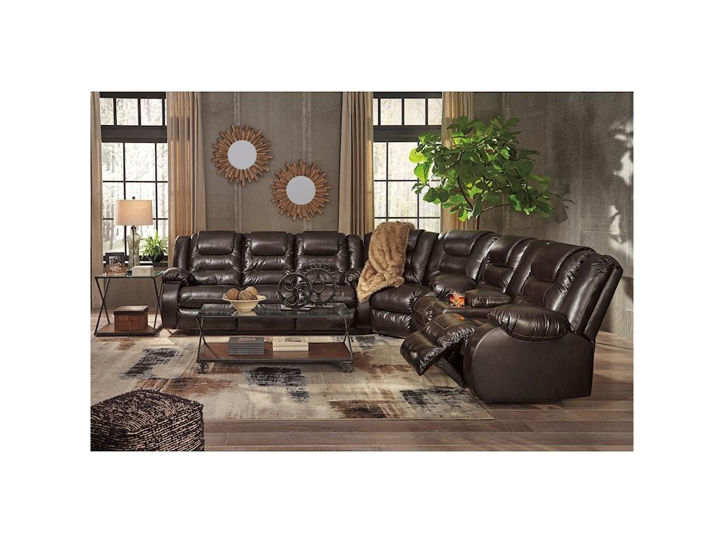 Signature Design by Ashley VacherieReclining Sectional Sofa