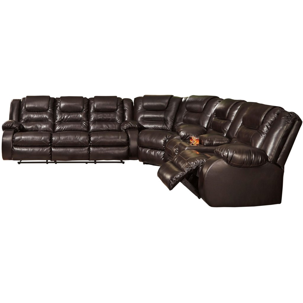 Signature Design By Ashley Vacherie Casual Reclining Sectional Sofa
