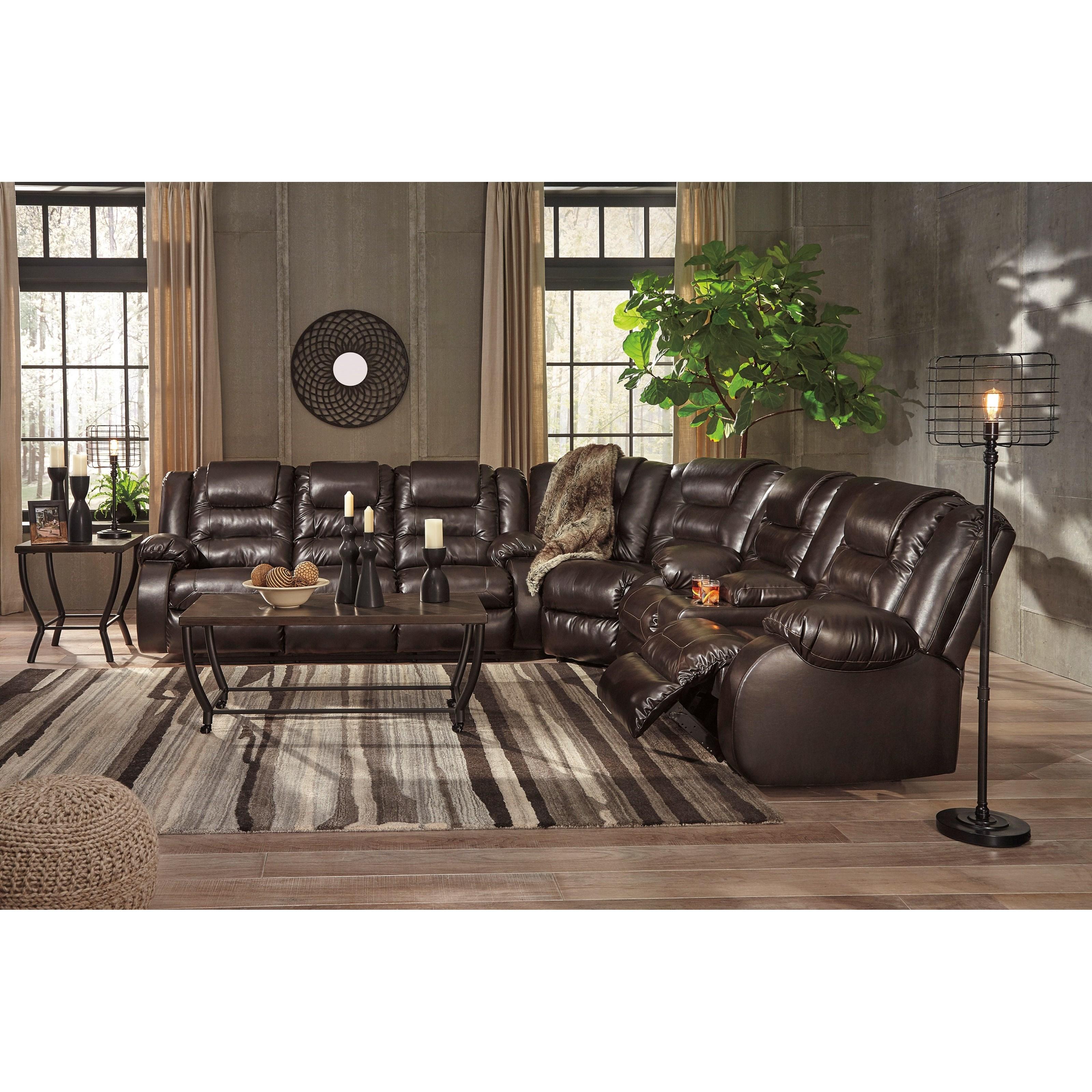 ... Signature Design By Ashley VacherieReclining Sectional Sofa ...