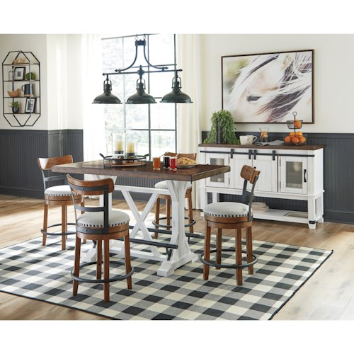 Signature Design by Ashley Valebeck Casual Dining Room Group