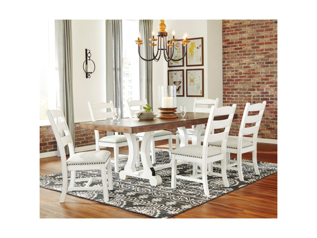 Signature Design by Ashley Valebeck7-Piece Table and Chair Set