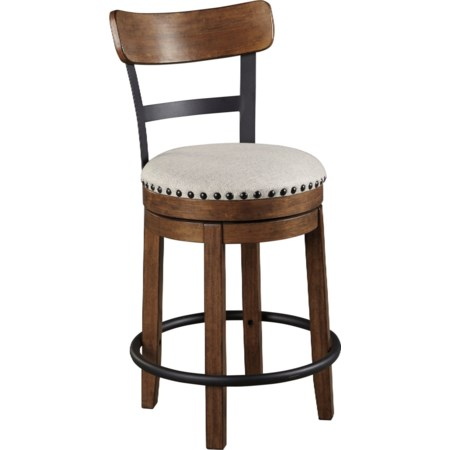 Counter Height Upholstered Swivel Barstool