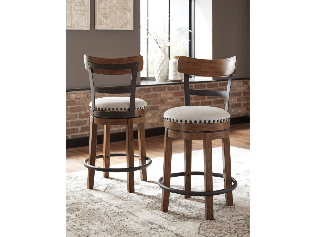 Signature Design by Ashley ValebeckCounter Height Upholstered Swivel Barstool