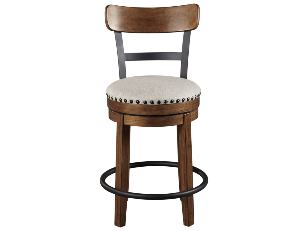 Signature Design by Ashley ValebeckCounter Height Upholstered Swivel Barstool