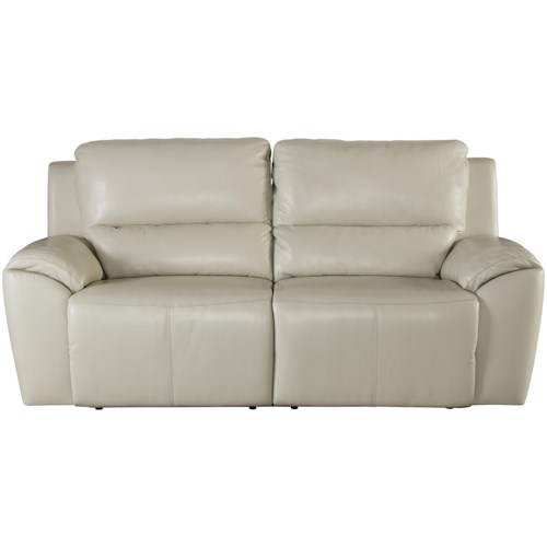 Signature Design By Ashley Valeton Contemporary Leather Match 2 Seat Reclining Sofa