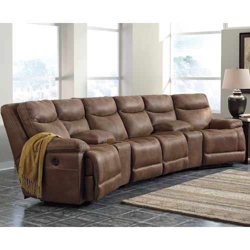 Sectional Sofas Birmingham Al: Signature Design By Ashley Valto Reclining Sectional With