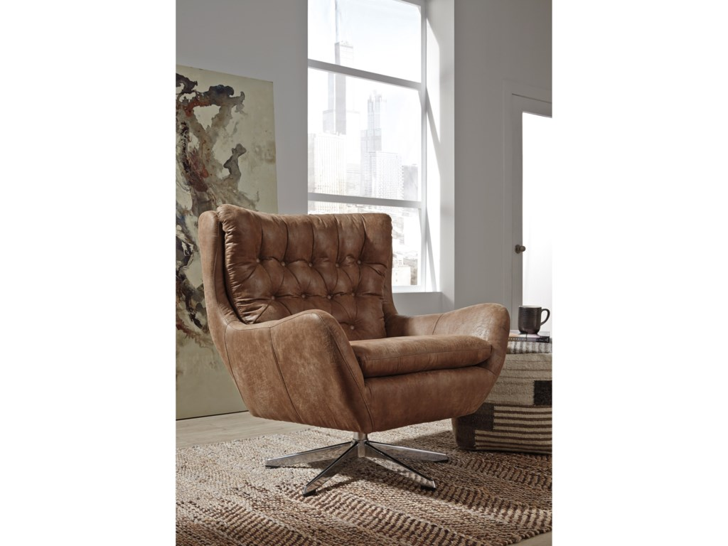 Signature Design by Ashley VelburgSwivel Base Accent Chair