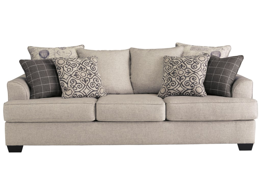 Velletri Relaxed Vintage Sofa With 4 Decorative Pillows