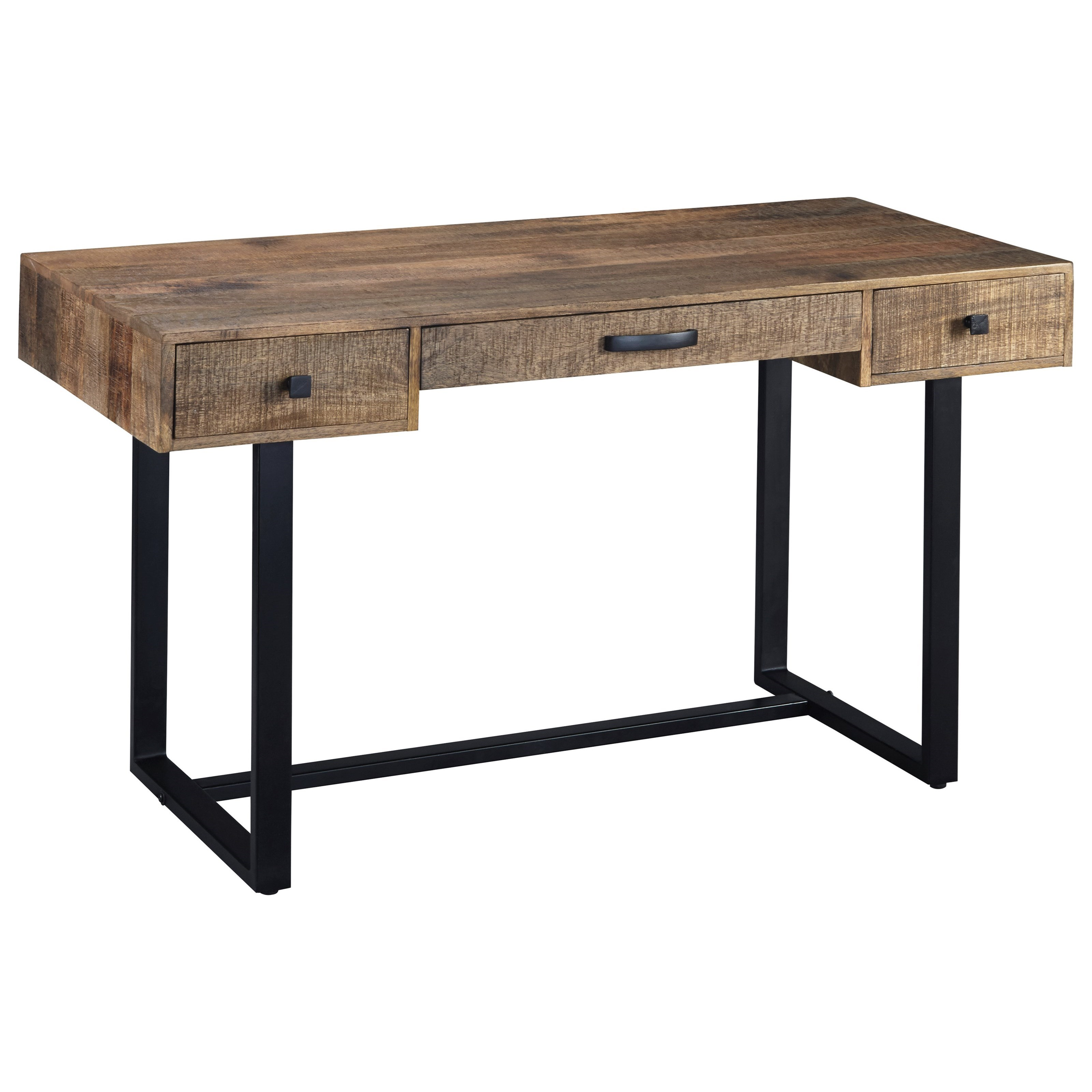 Signature Design By Ashley Viganni H640 26 Mango Wood/Metal Home Office  Desk | Household Furniture | Table Desks/Writing Desks