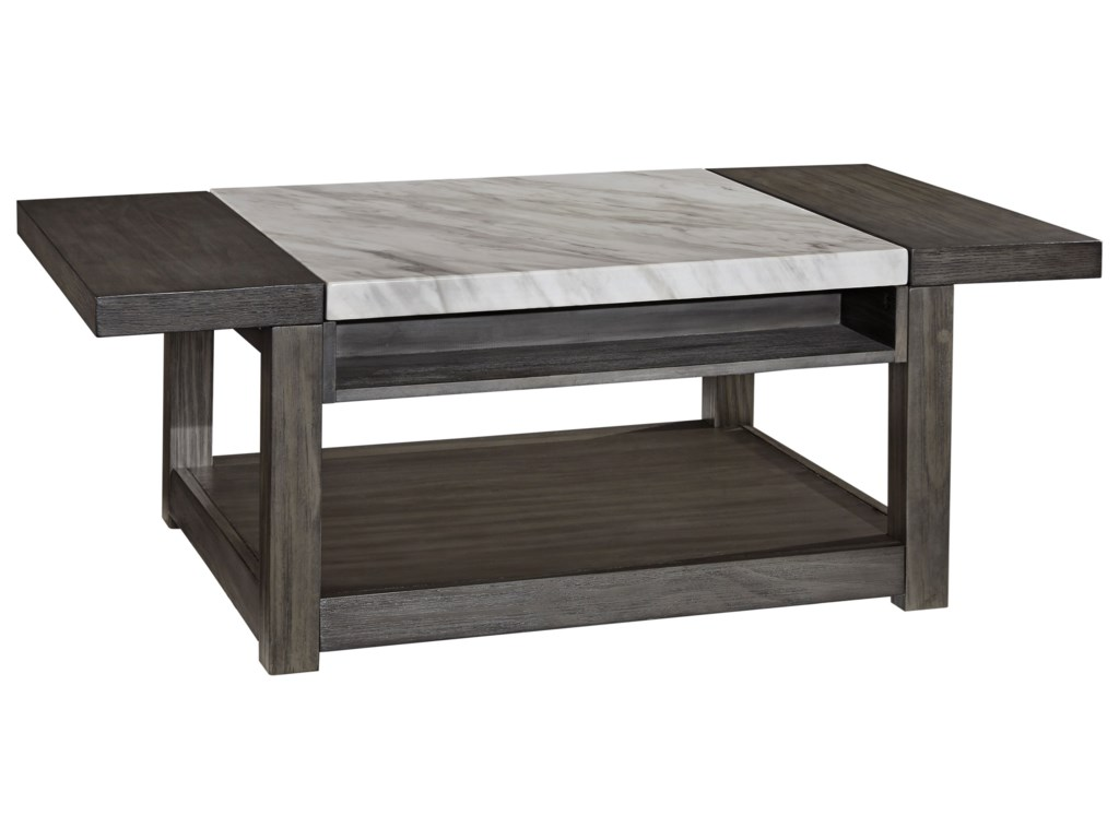 Vineburg Rectangular Lift Top Tail Table