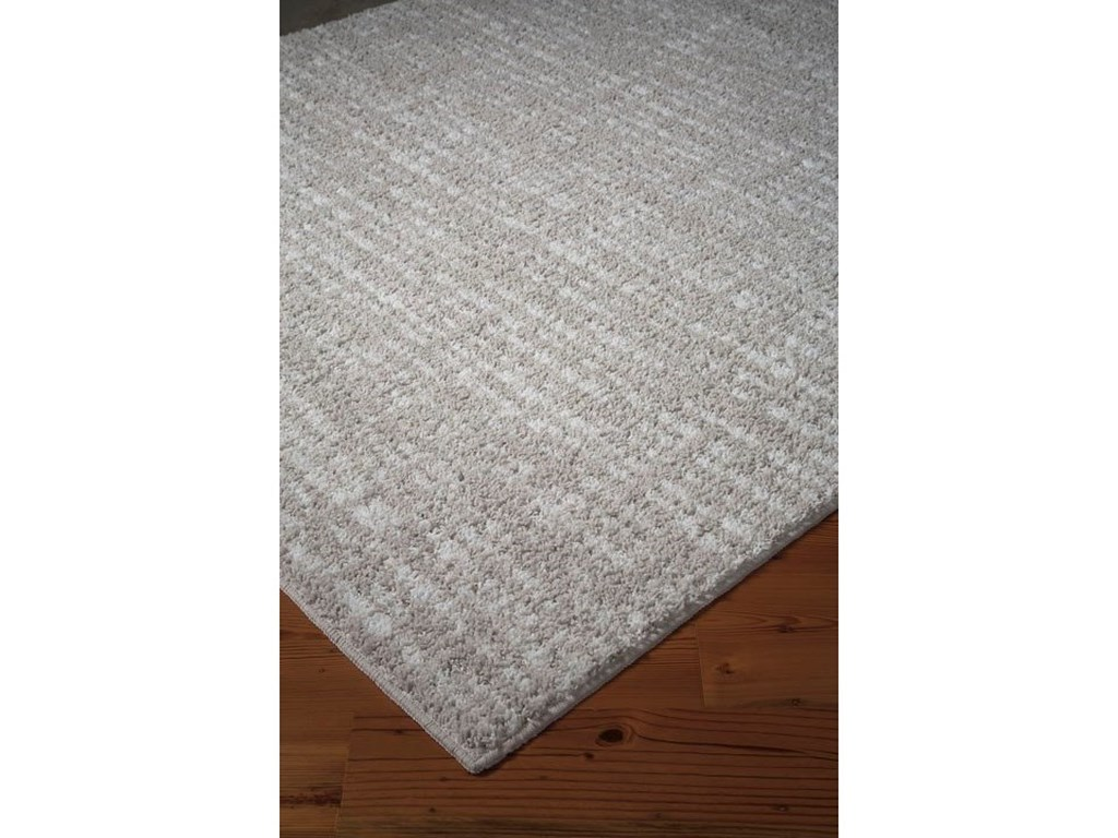 Signature Design by Ashley Casual Area RugsNorris Taupe/White Large Rug