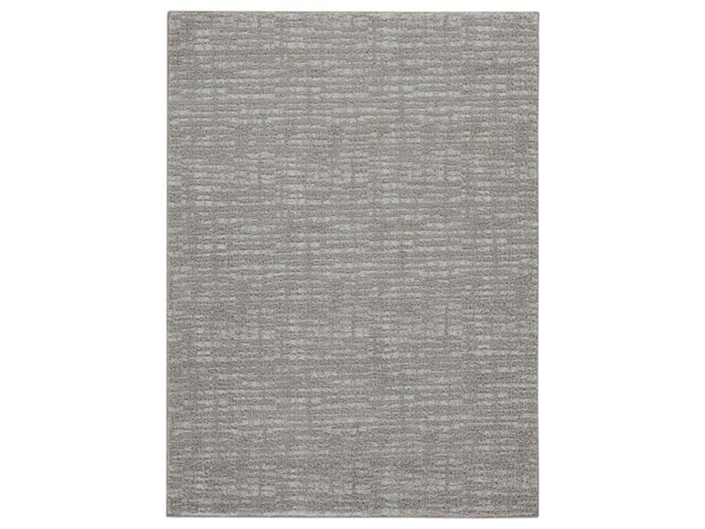 Benchcraft Casual Area RugsNorris Taupe/White Medium Rug