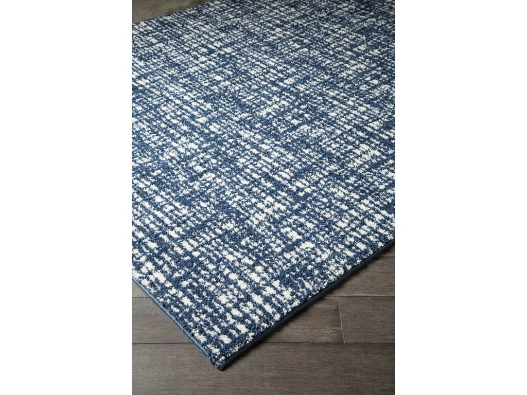 Signature Design by Ashley Casual Area RugsNorris Blue/White Medium Rug