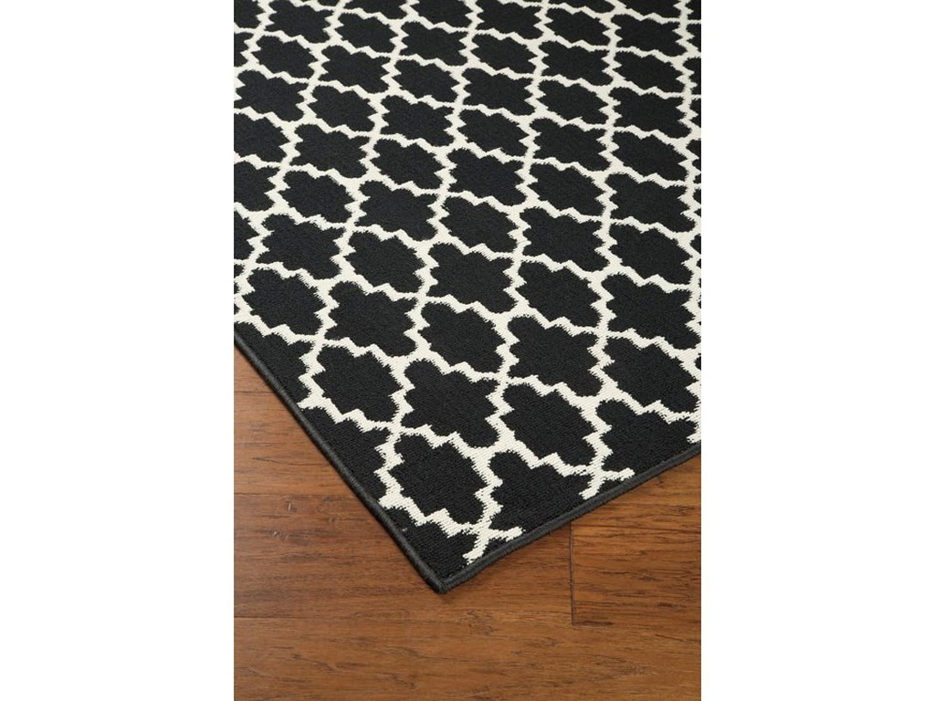 Signature Design by Ashley Casual Area RugsNathanael Black/White Large Rug