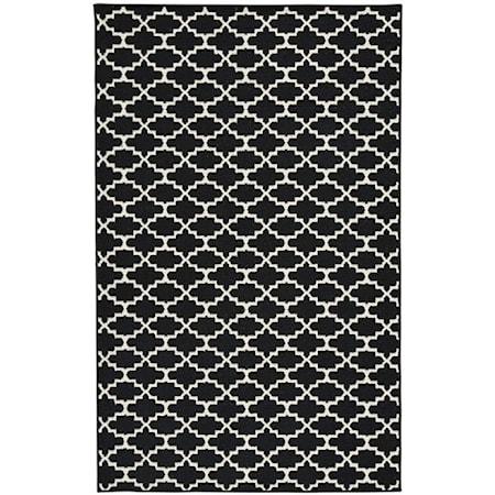 Nathanael Black/White Medium Rug