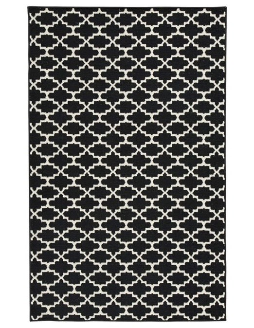 Signature Design by Ashley Casual Area RugsNathanael Black/White Medium Rug
