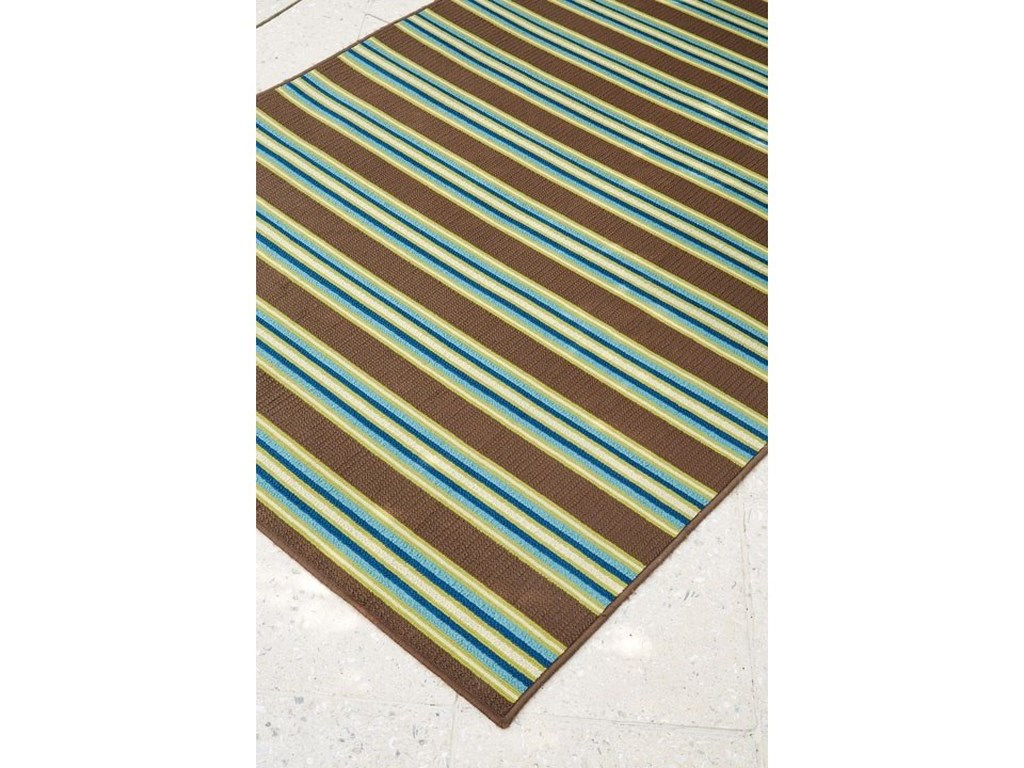 Trendz Casual Area RugsMatchy Lane Brown/Blue/Green Medium Rug