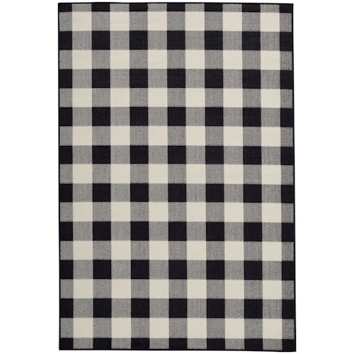 Signature Design by Ashley Casual Area Rugs Juji Black/Gray/White Medium Rug