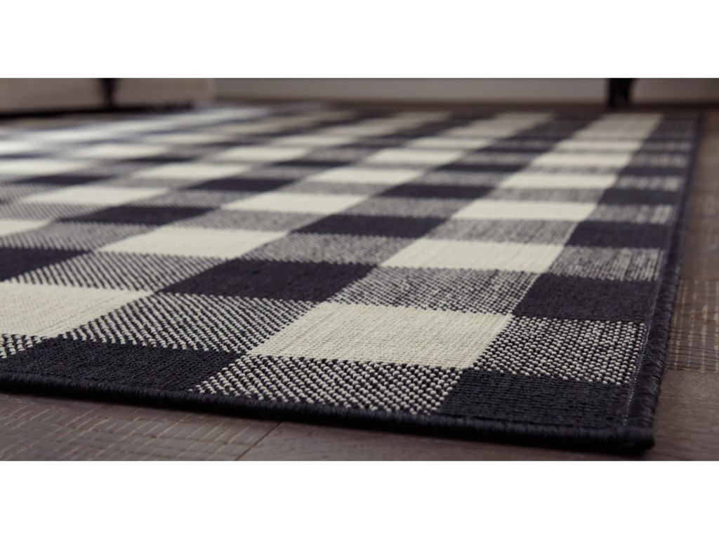 Signature Design by Ashley Casual Area RugsJuji Black/Gray/White Large Rug