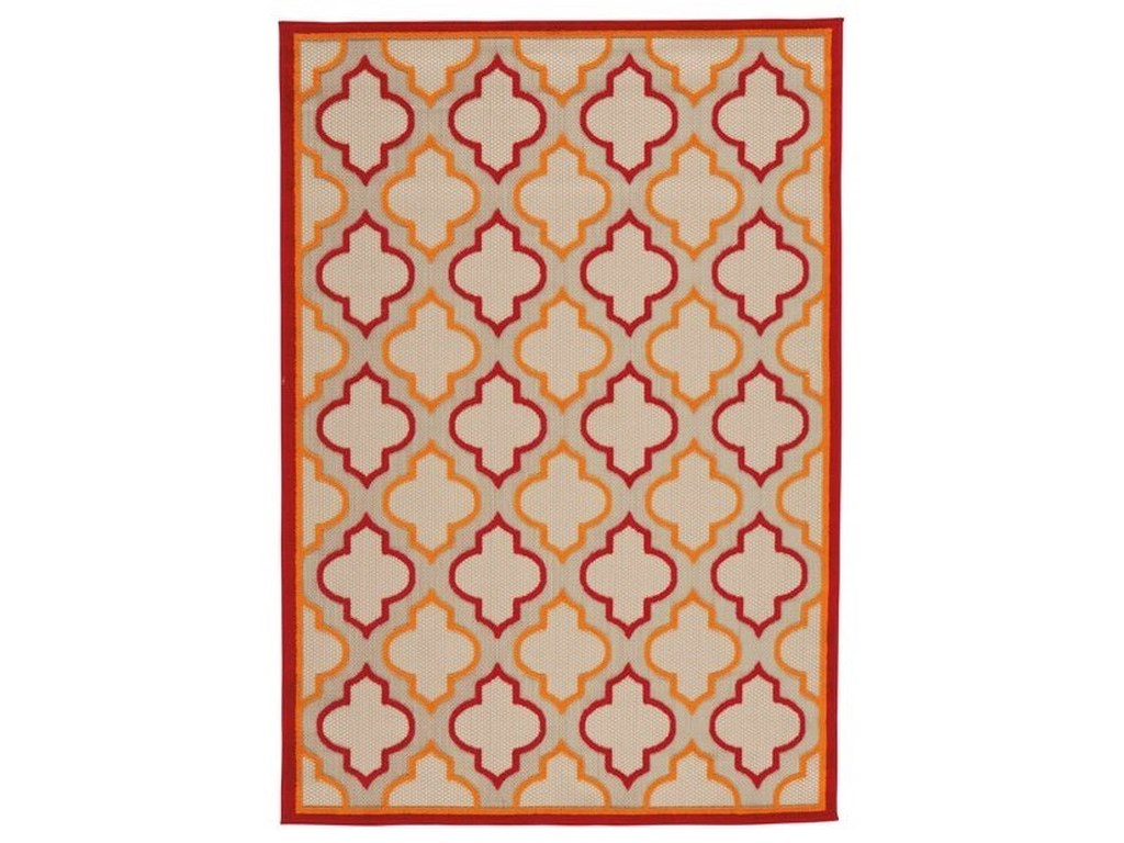 Signature Design by Ashley Casual Area RugsJebediah Red/Orange Large Rug
