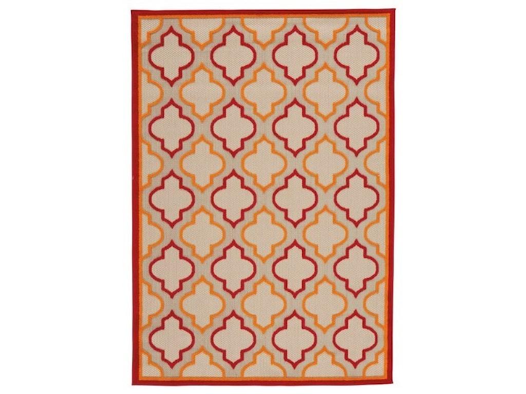 Signature Design by Ashley Casual Area RugsJebediah Red/Orange Medium Rug