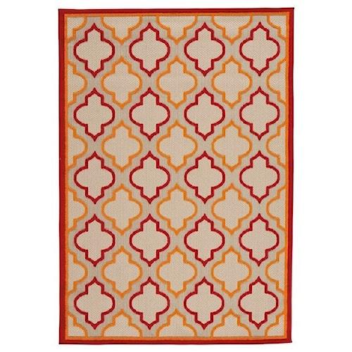 Signature Design by Ashley Casual Area Rugs Jebediah Red/Orange Medium Rug