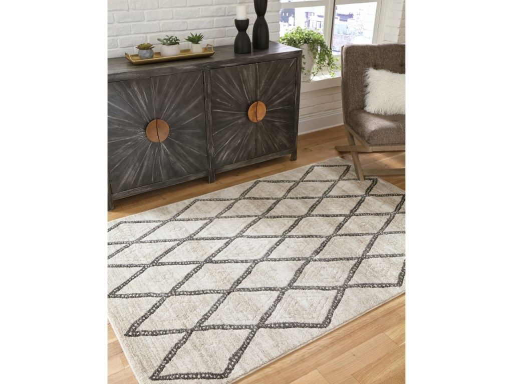 Signature Design by Ashley Casual Area RugsJarmo Gray/Taupe Medium Rug