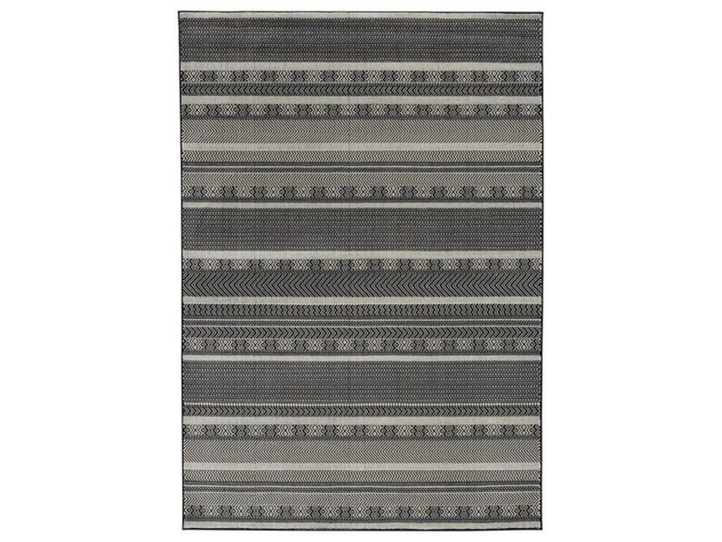 Signature Design by Ashley Casual Area RugsJeven Black/Cream Large Rug