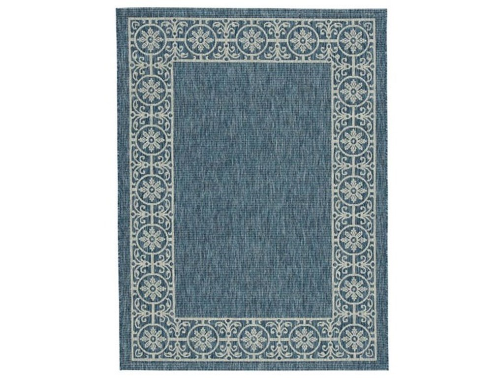 Signature Design by Ashley Casual Area RugsJeb Blue/Tan Large Rug