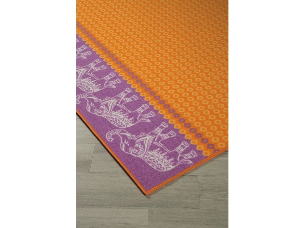 Signature Design by Ashley Casual Area RugsMaximus Orange Medium Rug