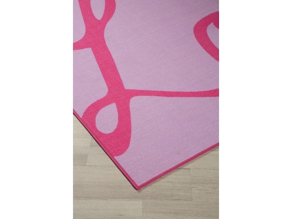 Signature Design by Ashley Casual Area RugsJanie Lavender/Pink Medium Rug