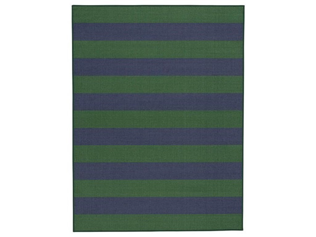 Signature Design by Ashley Casual Area RugsPrentiss Navy/Green Medium Rug