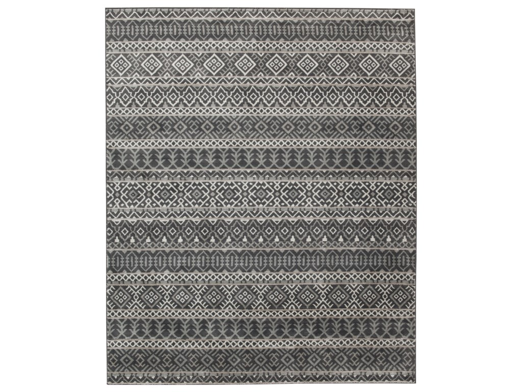 Signature Design by Ashley Casual Area RugsJoachim Black/Tan Large Rug
