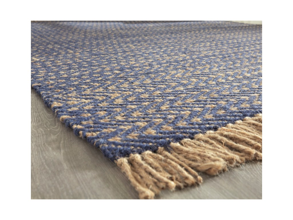 Benchcraft Casual Area RugsMavis Navy/Natural Medium Rug