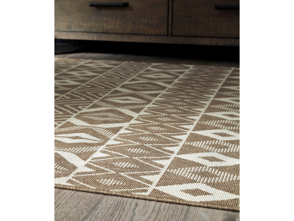 Signature Design by Ashley Casual Area RugsDonaphan Tan/Cream Medium Rug