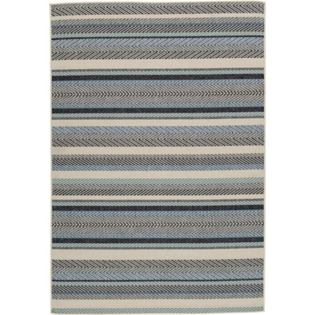 Troost Blue/Cream Large Rug