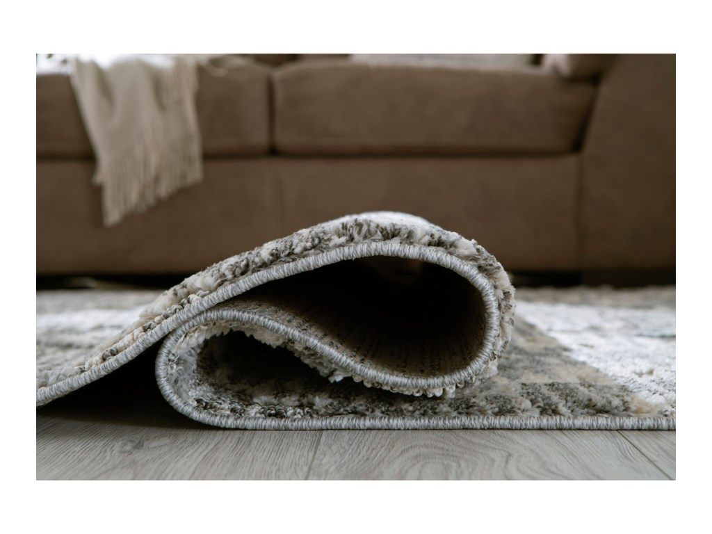 Signature Design by Ashley Casual Area RugsMonwick Gray/Cream Large Rug