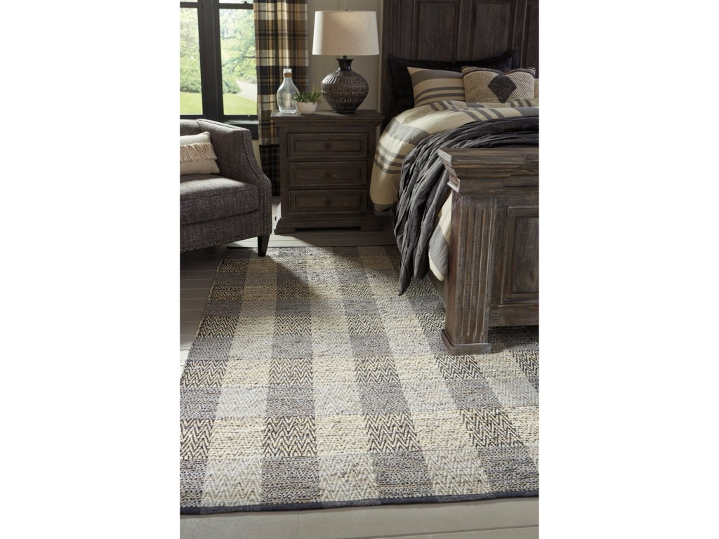 Signature Design by Ashley Casual Area RugsChristoff Taupe/Black Large Rug