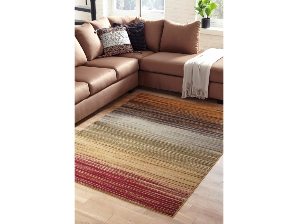 Benchcraft Casual Area RugsAlpenrose Multi Medium Rug