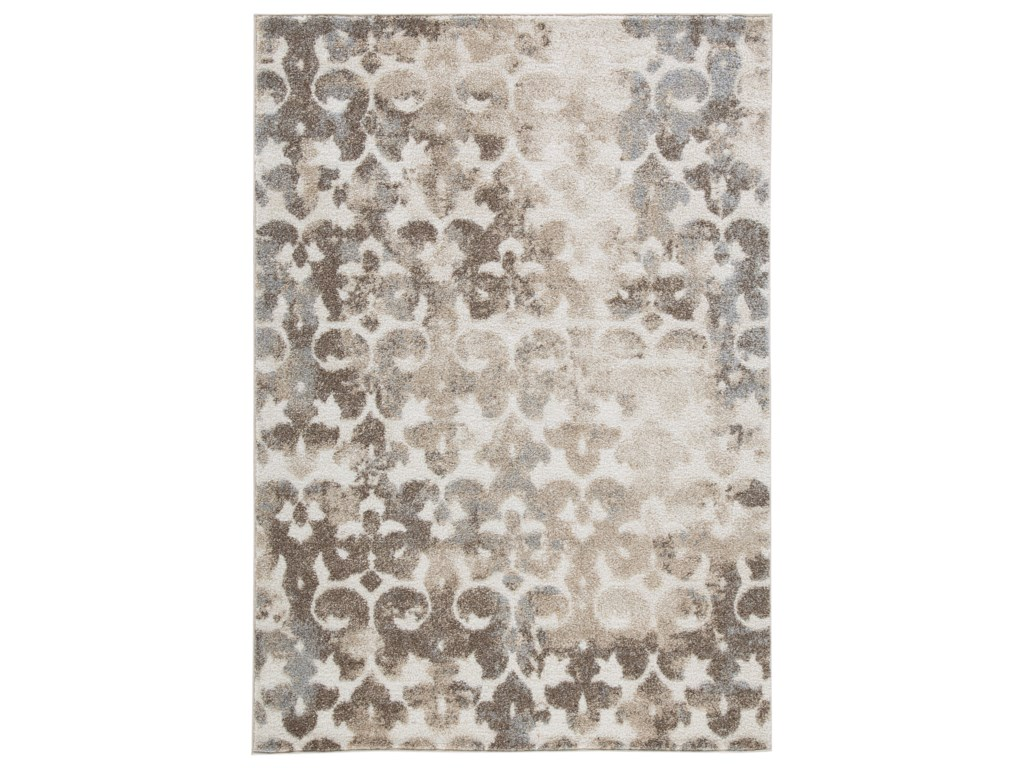 Signature Design by Ashley Casual Area RugsJiro Brown/Cream Large Rug