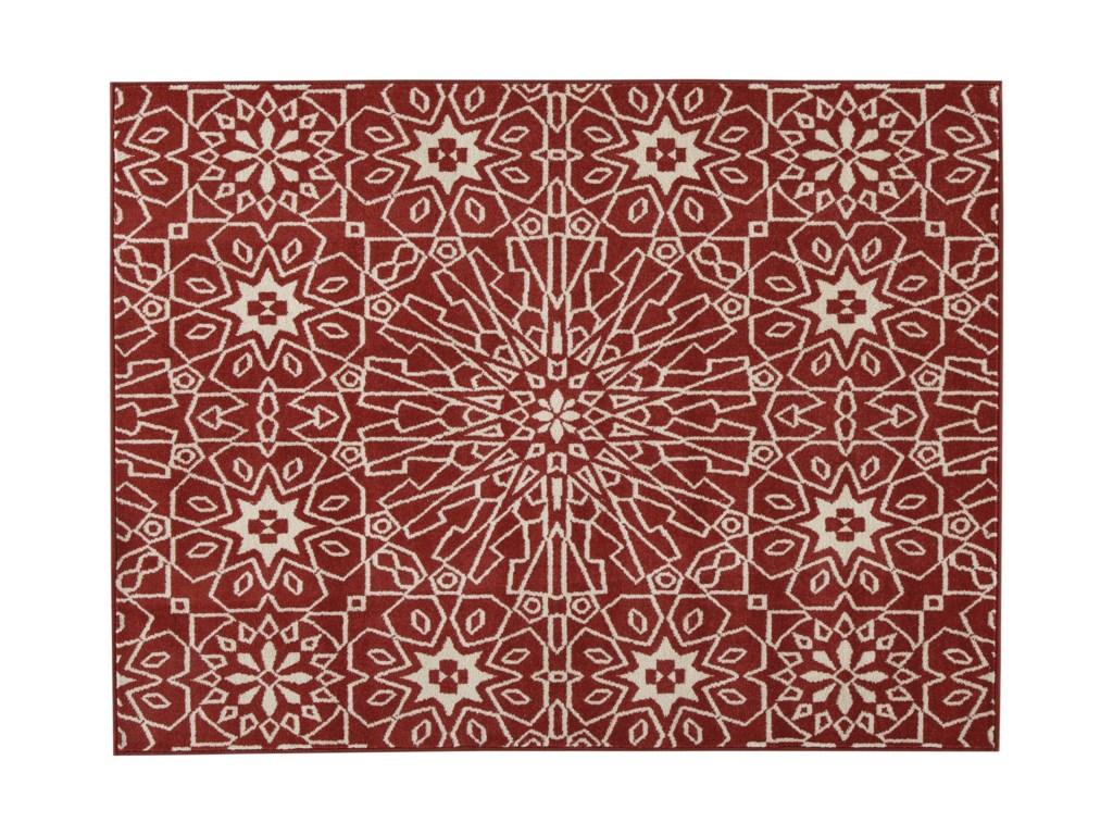 Benchcraft Casual Area RugsCosada Red Large Rug