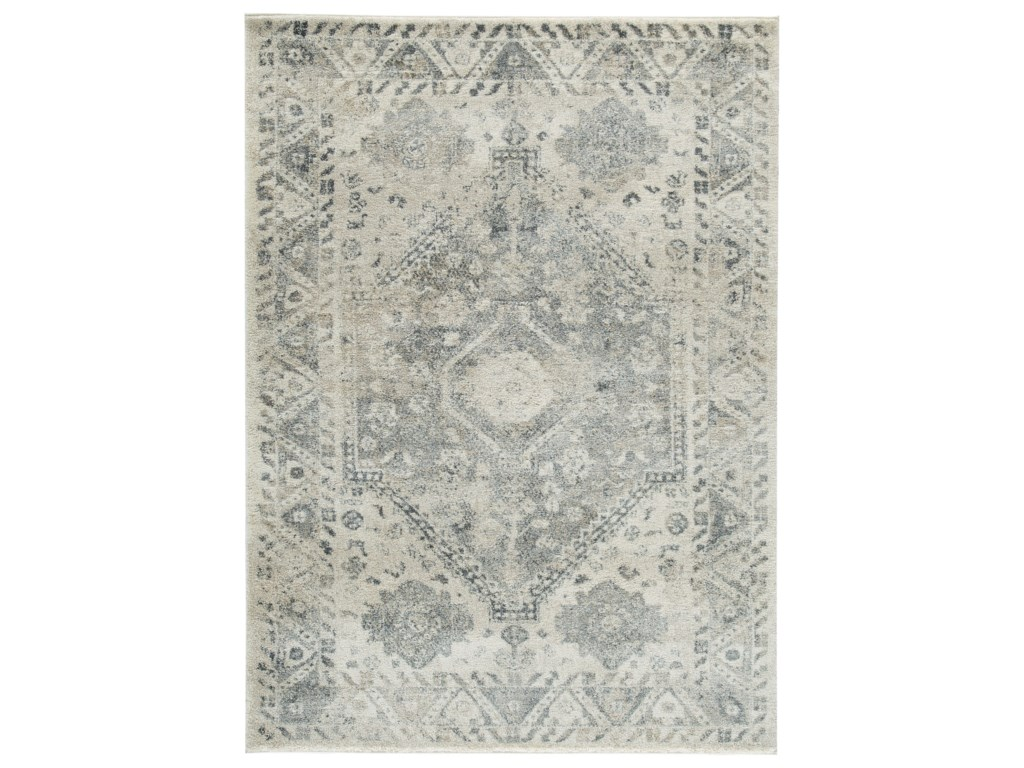 Signature Design by Ashley Casual Area RugsPrecia Gray/Cream Large Rug