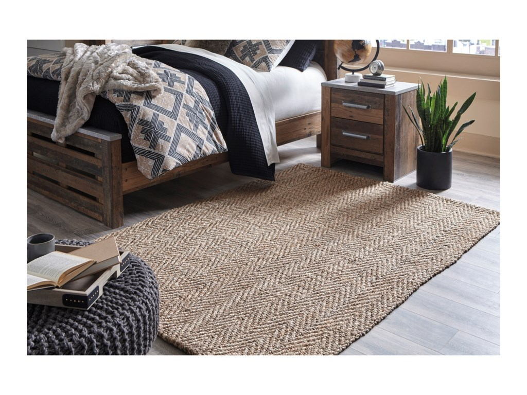 Signature Design by Ashley Casual Area RugsJoao Natural Large Rug