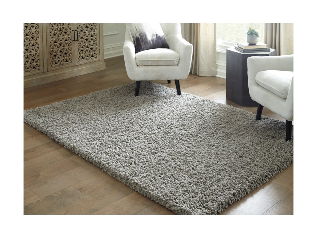 Signature Design by Ashley Casual Area RugsDeion Taupe Large Rug