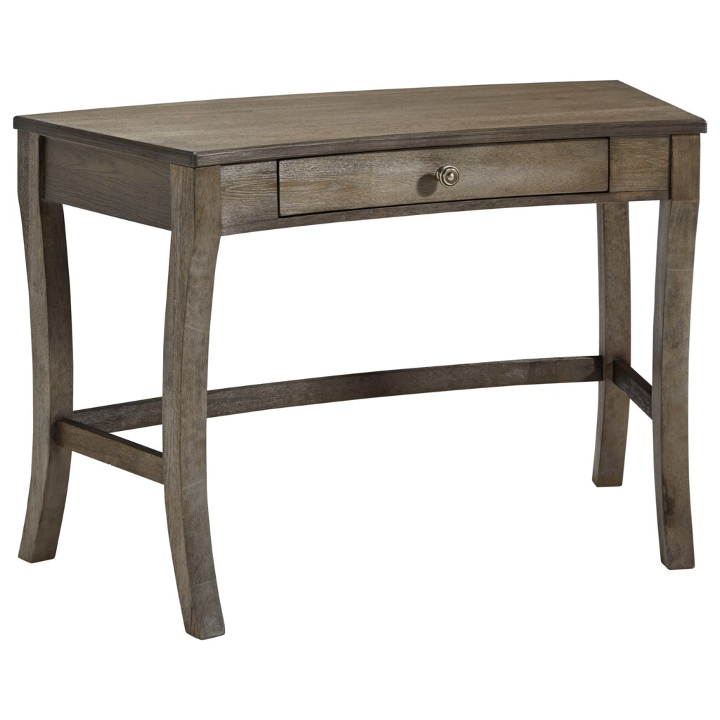 Vintelli curved home office desk with drawer by signature design by ashley