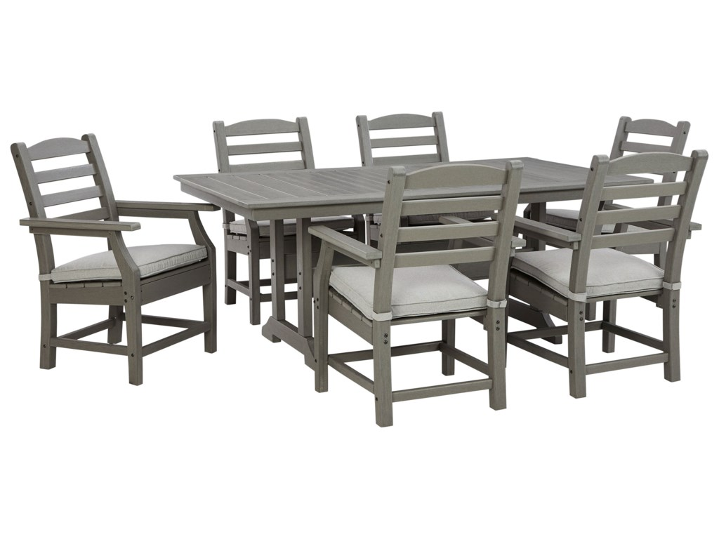 Signature Design by Ashley Visola7-Piece Rectangular Table Set