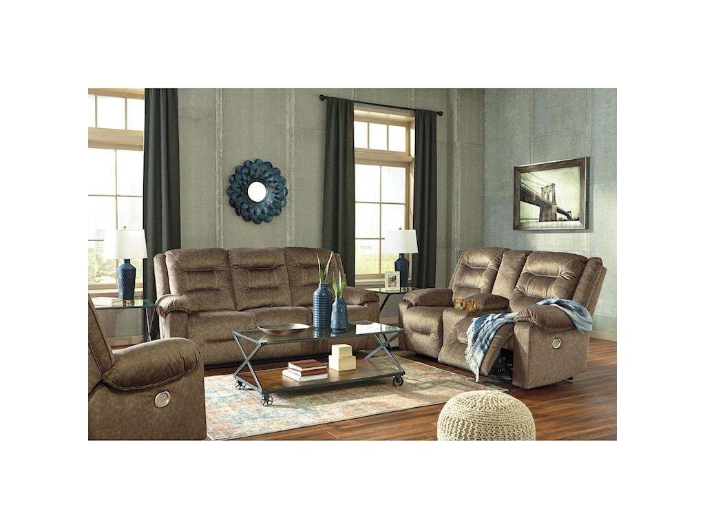 Signature Design by Ashley WaldheimPower Reclining Sofa w/ Adjustable Headrests