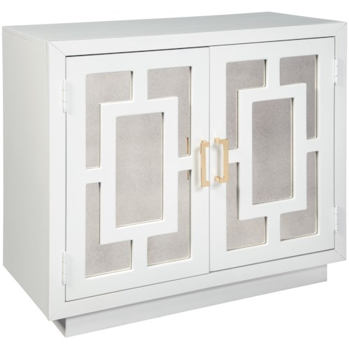 Signature Design by Ashley Walentin Contemporary Accent Cabinet with Mirror Panels