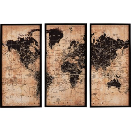 Pollyanna Tan/Black Wall Art Set